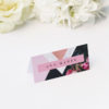Marble Rose Gold Floral Wedding Name Place Cards Marble Rose Gold Floral Wedding Invitations hydrangea petals dark black moody geometric