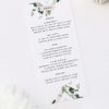 Marble Modern Botanical Natural Greenery Wedding Menus Marble Green Leaves Modern Botanical Wedding Invitations