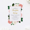 Romantic Blush Roses Elegant Wedding Invitations