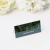 Modern Monstera Tropical Grey Blue Wedding Name Place Cards Modern Monstera Tropical Leaves Wedding Invitations