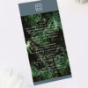 Modern Monstera Tropical Grey Blue Wedding Menus Modern Monstera Tropical Leaves Wedding Invitations