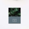 Modern Monstera Tropical Grey Blue Wedding Thank You Cards