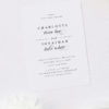 Simple Classic Elegant White Wedding Invitations