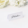Elegant Hand Script Writing Name Place Cards Elegant Hand Script Writing Wedding Invitations