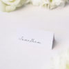 Classy Hand Writing Cursive Name Place Cards Classy Hand Writing Cursive Wedding Invitations