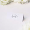 Simple Hand Script Classic Name Place Cards Simple Hand Script Classic Wedding Invitations