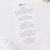 Clean Pretty Calligraphy Script Wedding Menus Clean Pretty Calligraphy Script Wedding Invitations