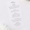 Elegant Calligraphy Modern Wedding Menus Simple Flowy Cursive Script Wedding Invitations