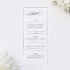 Elegant Calligraphy Flourish Border White Menus Elegant Calligraphy Flourish Border White Wedding Invitations