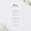 Simple Pretty Cursive Calligraphy Writing Wedding Menus Simple Pretty Cursive Calligraphy Writing Wedding Invitations