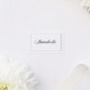 Elegant Calligraphy Flourish Border Name Place Cards Elegant Calligraphy Flourish Border White Wedding Invitations