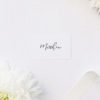 Simple Flowy Cursive Script Name Place Cards Elegant Calligraphy Modern Wedding Name Place Cards Simple Flowy Cursive Script Wedding Invitations