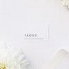 Simple Minimal Classic Elegant Writing Name Place Cards Simple Minimal Classic Elegant Writing Wedding Invitations