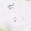 Elegant Calligraphy Flourish Border White Wedding Thank You Postcards Elegant Calligraphy Flourish Border White Wedding Invitations