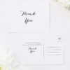 Clean Pretty Calligraphy Script Wedding Thank You Postcards Clean Pretty Calligraphy Script Wedding Invitations
