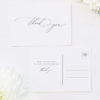 Stunning Elegant Beautiful Calligraphy Wedding Thank You Postcards Stunning Elegant Beautiful Calligraphy Wedding Invitations