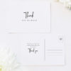 Pretty Elegant Hand Writing Wedding Thank You Postcards Pretty Elegant Hand Writing Wedding Invitations