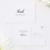 Simple Pretty Cursive Calligraphy Writing Wedding Thank You Postcards Simple Pretty Cursive Calligraphy Writing Wedding Invitations