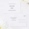 Simple Writing White Wedding Thank You Postcards Simple Writing White Wedding Invitations