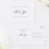 Beautiful Formal Script Calligraphy Wedding Thank You Postcards Beautiful Formal Script Calligraphy Wedding Invitations