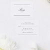 Beautiful Formal Script Calligraphy Wedding Invitations