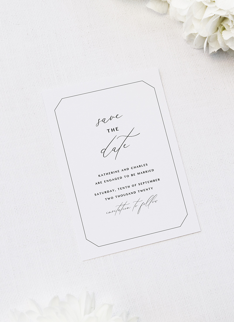 Decorative Border Elegant Calligraphy Cursive Save the Dates Decorative Border Elegant Calligraphy Cursive Wedding Invitations
