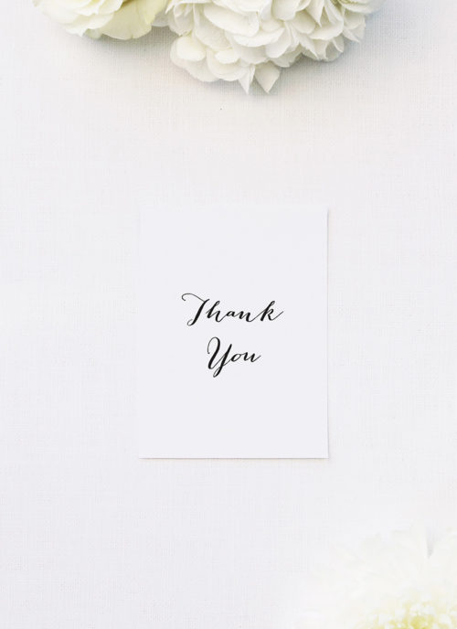 Clean Pretty Calligraphy Script Wedding Thank You Cards Clean Pretty Calligraphy Script Wedding Invitations