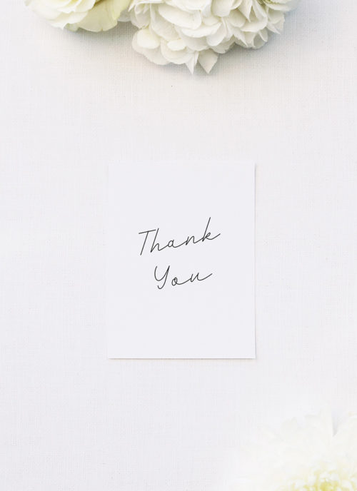 Hand Writing Cursive Script Wedding Thank You Cards Hand Writing Cursive Script Wedding Invitations