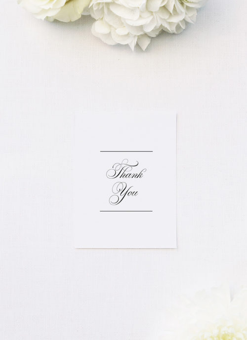 Beautiful Formal Script Calligraphy Wedding Thank You Cards Beautiful Formal Script Calligraphy Wedding Invitations
