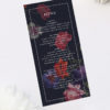 Moody Dark Floral Burgundy Wedding Menus Moody Dark Floral Wedding Invitations