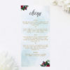 Ruby Red Rose Burgundy Floral Wedding Menus Ruby Red Rose Burgundy Floral Wedding Invitations