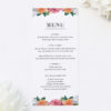 Pink Peach Orange Botanical Wedding Menus Pink Peach Orange Botanical Wedding Invitations
