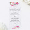 Pink Floral Rose Gold Marble Wedding Menus Floral Rose Gold Foil Marble Wedding Invitations