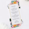 Boho Native Floral Succulent Wedding Menus Boho Native Floral Succulent Botanical Bohemian Wedding Invitations
