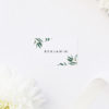 Simple Elegant Eucalyptus Wedding Name Place Cards Simple Elegant Eucalyptus Green Leaves Wedding Invitations