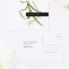 Modern Lily Flower Wedding Thank You Postcards Modern Lily Flower Wedding Invitations