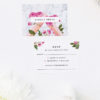Floral Rose Gold Foil Marble Wedding Invitations