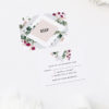 Blush Burgundy Botanical Greenery Wedding Invitations