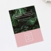 Modern Monstera Tropical Pink Save the Dates Modern Monstera Tropical Leaves Pink Wedding Invitations