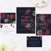 Moody Dark Floral Wedding Invitations