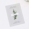 Modern Minimal Grey Green Botanical Save the Dates Elegant Botanical Grey White Green Wedding Invitations