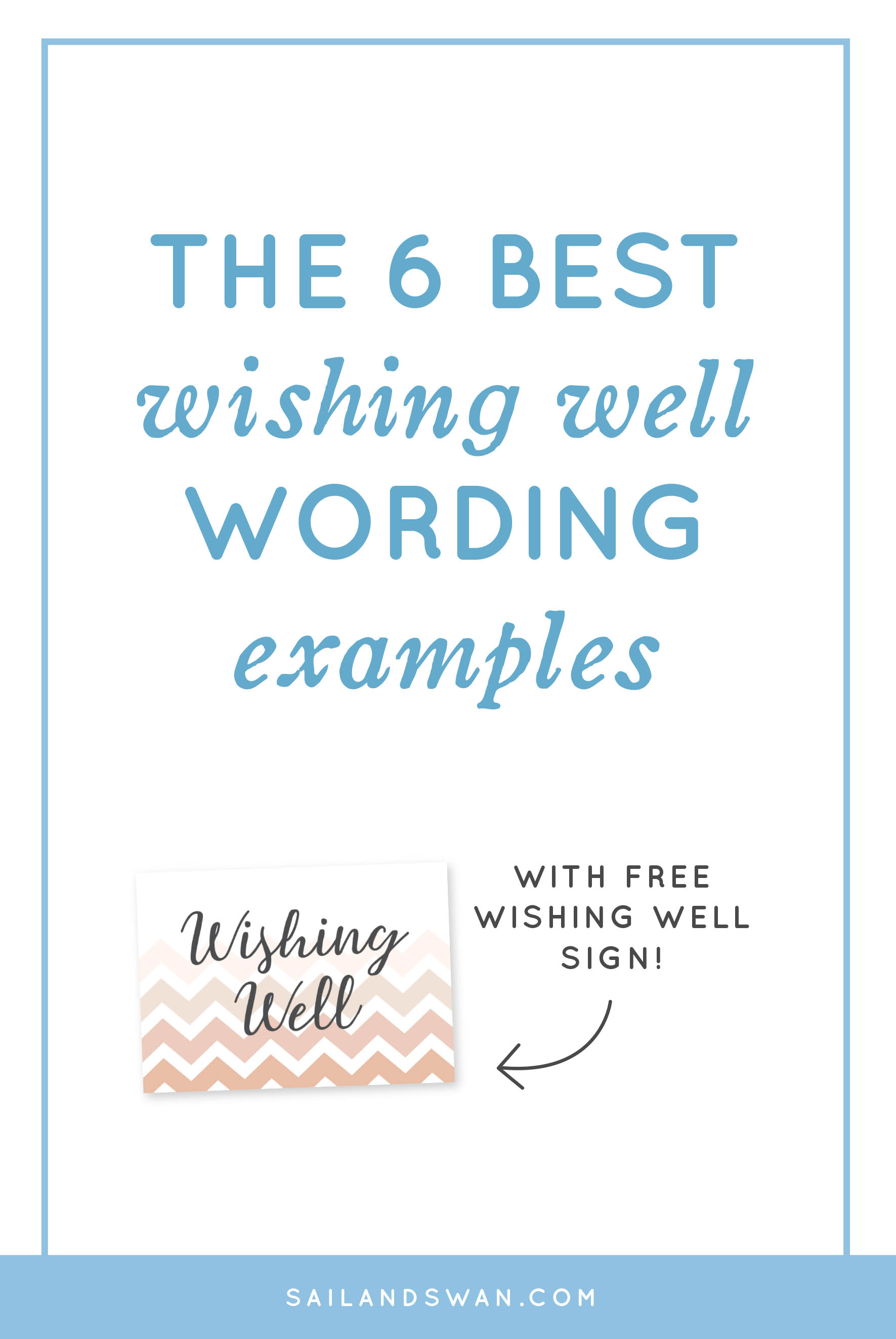 The 6 Best Wishing Well Wording Examples - Wishing Well ...
