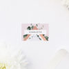 Contemporary Chic Modern Geometric Wedding Name Place Cards Modern Geometric Marble Rose Gold Wedding Invitations