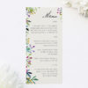 Forest Foliage Watercolour Floral Wedding Menus Forest Foliage Watercolour Floral Wedding Invitations
