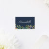 Floral Navy Wedding Name Place Cards Floral Navy Wedding Invitations