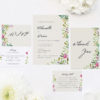 Forest Foliage Watercolour Floral Wedding Invitations