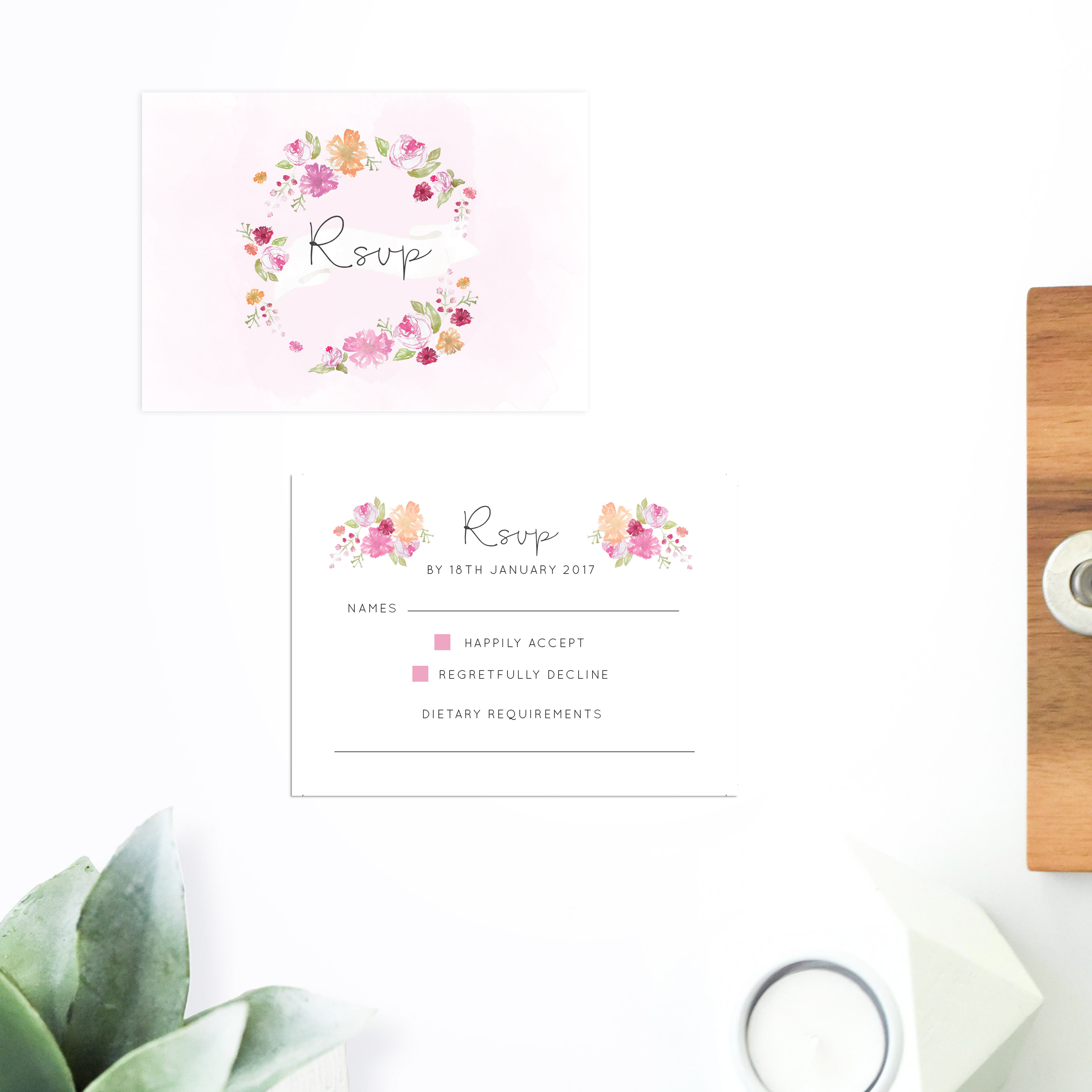 Pastel Floral Wedding Invitations Sail And Swan