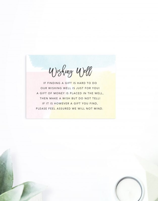 Pastel Watercolour Wedding Invitations Mint Green Blue Pink Yellow Wedding Invites Australia Sydney Perth Melbourne Brisbane Adelaide Sail and Swan
