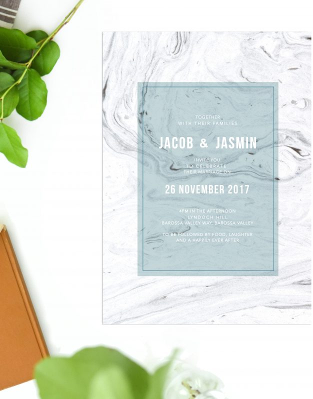 Grey Marble Wedding Invitations Australia marble Wedding Stationery Ocean Blue Turquoise Stone Perth Sydney Melbourne Brisbane Adelaide Sail and Swan