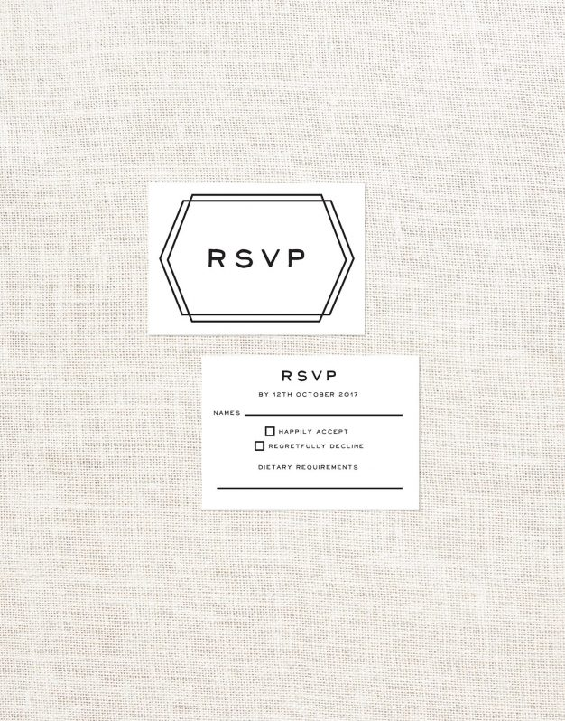 order Clean Contemporary Modern Custom Invites Australia
